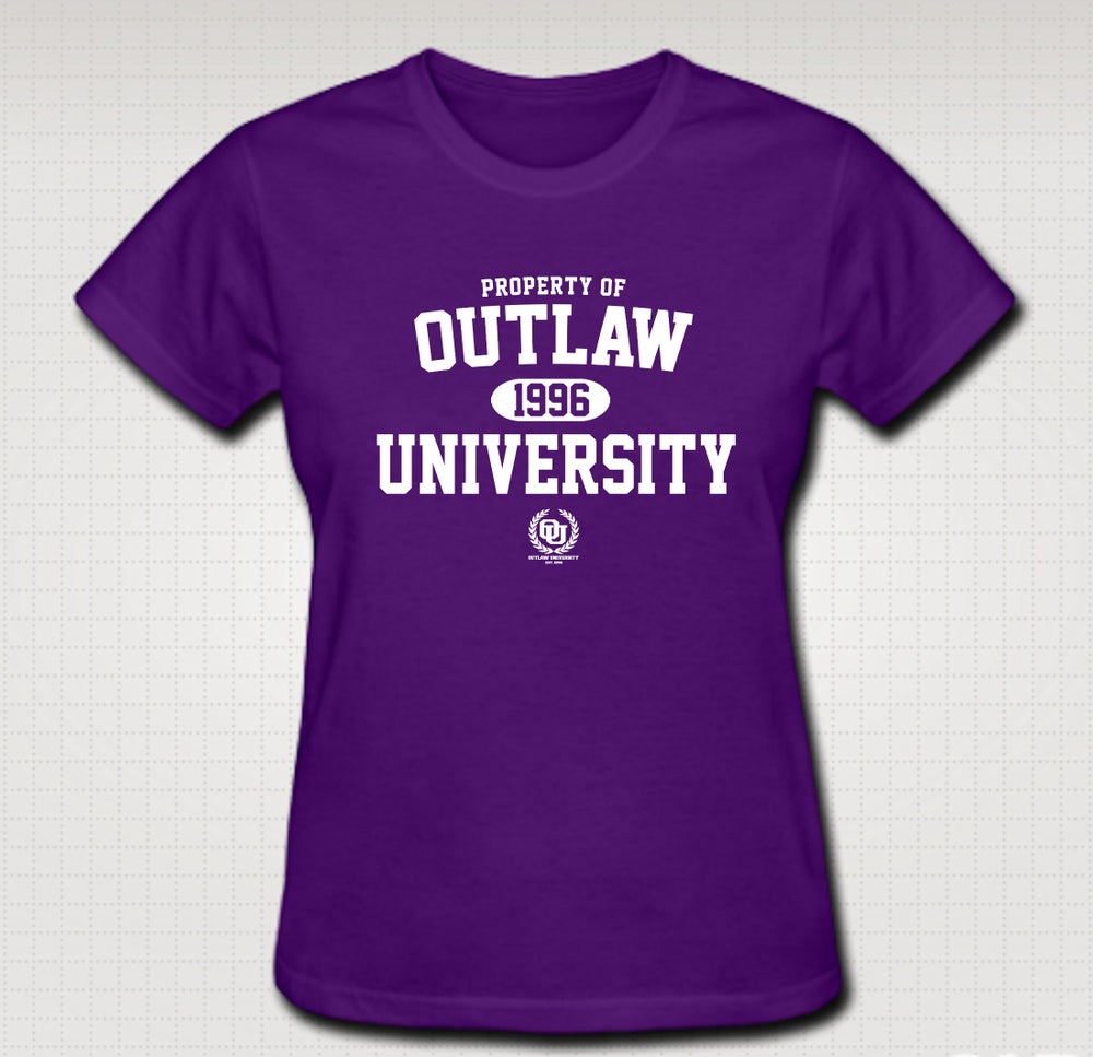 Image of OU Property Female Baby Tee- Comes in Black, White,Pink,Purple,Red- CLICK HERE TO SEE ALL COLORS