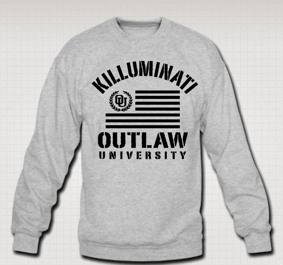Image of Killuminati Flag Crewneck- Comes in Black,Grey,Red,Navy Blue - CLICK HERE TO SEE ALL COLORS