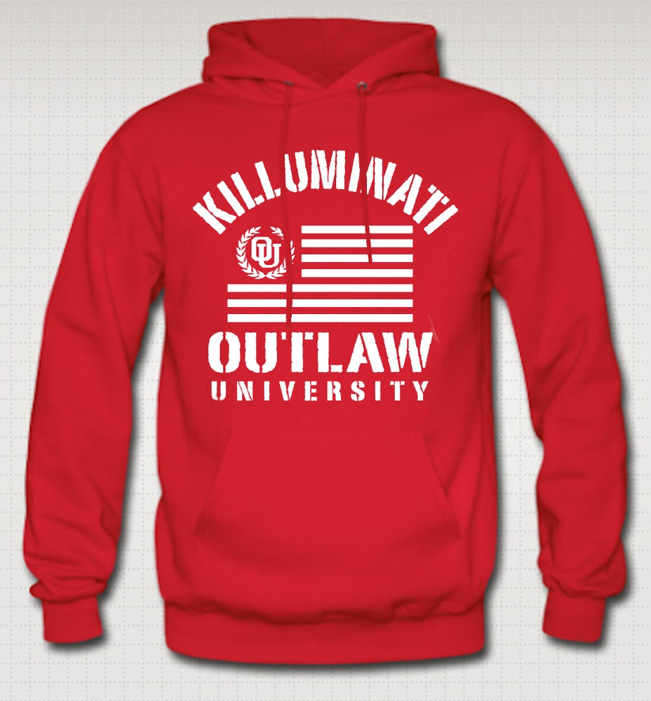Image of Killuminati Flag Hoodie- Comes in Black,Grey,Red,Navy Blue - CLICK HERE TO SEE ALL COLORS
