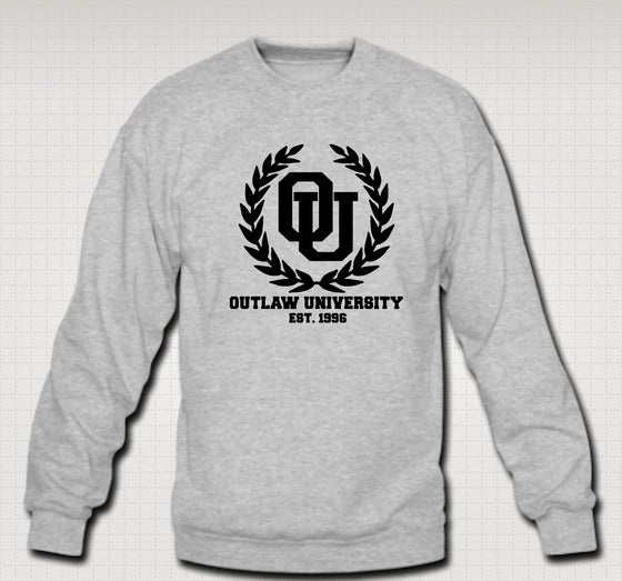 Image of University Crewneck- Comes in Black,Grey,Red,Navy Blue - CLICK HERE TO SEE ALL COLORS
