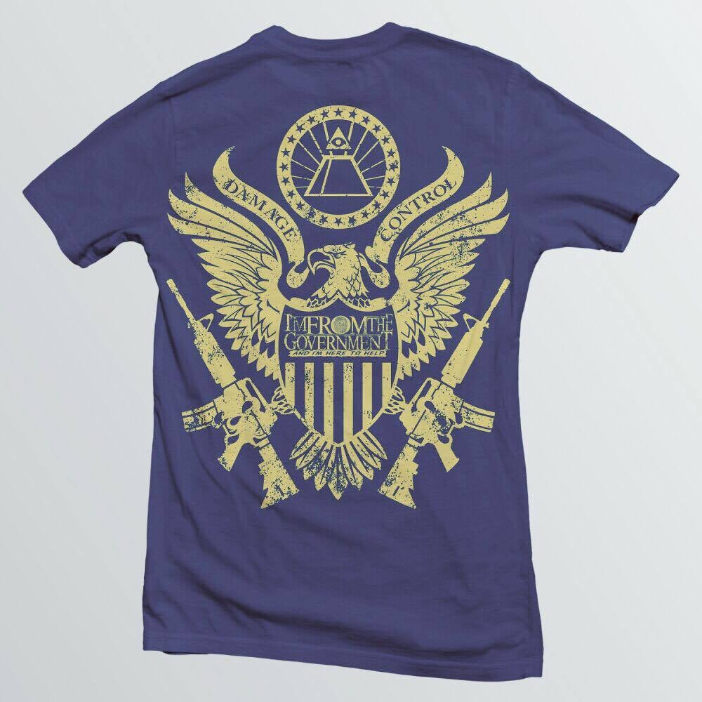 Image of Govt Agent Tee w/Eagle on back