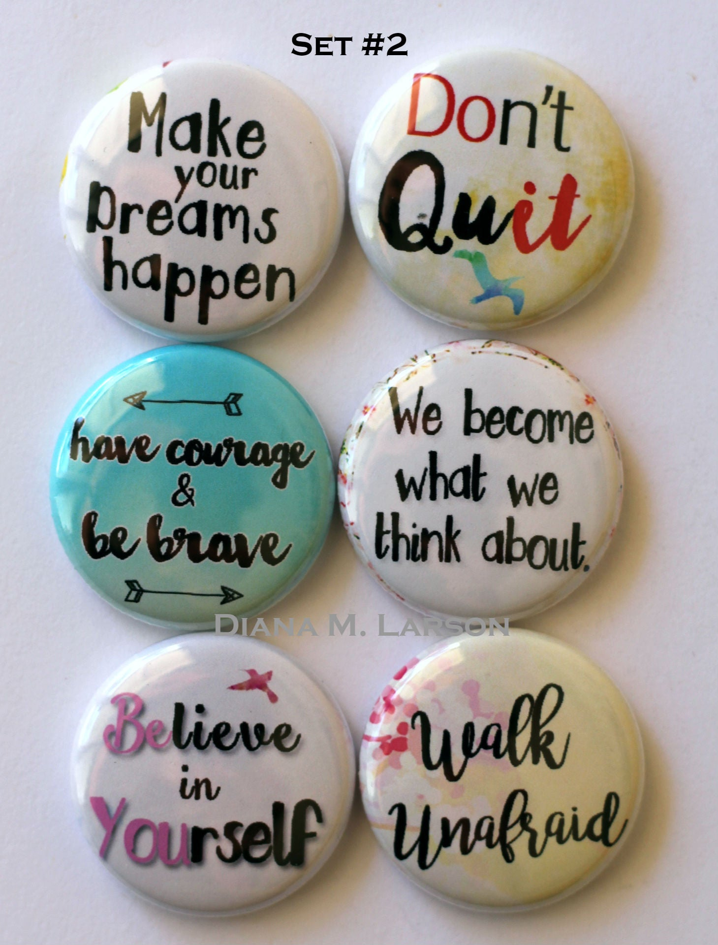Image of Words of Inspiration  Flair Buttons