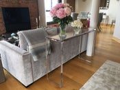 Image of Acrylic Console Table UK Mitred Design