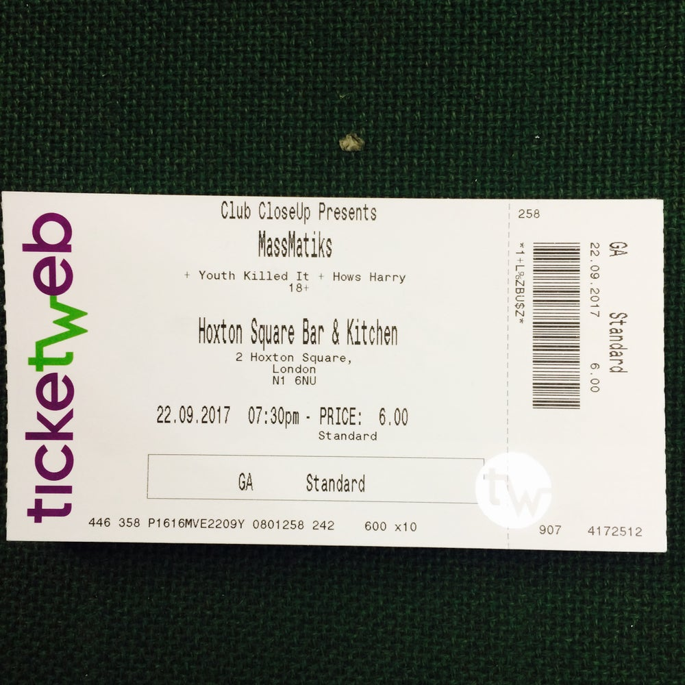 Image of SINGLE LAUNCH TICKETS - HOXTON BAR & KITCHEN