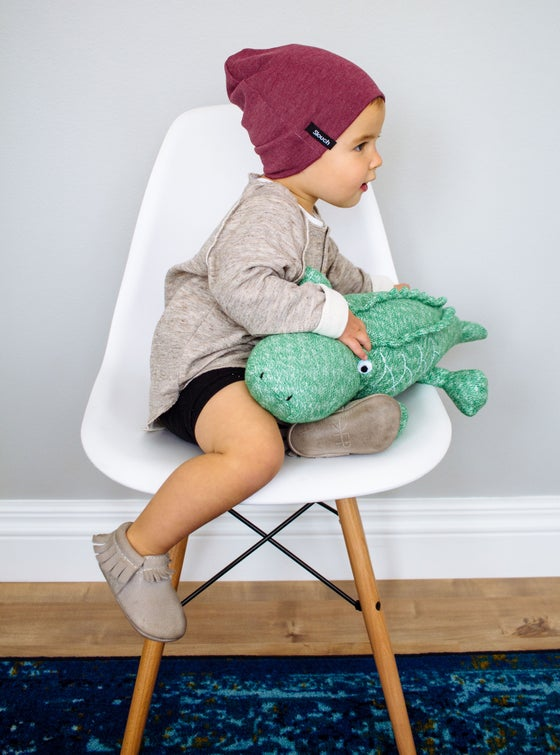 Image of Burgundy Slouch Beanie
