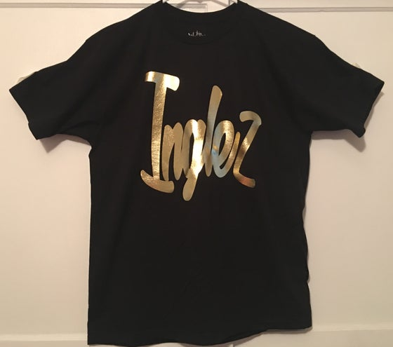 "Image of WKI ""Inglez"" T-Shirt (Black/Gold)"