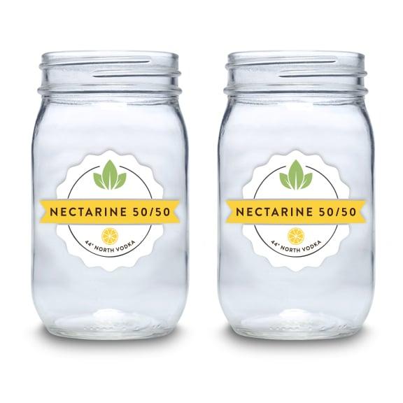 Nectarine 50/50 16 oz Mason Jars - Set of 4