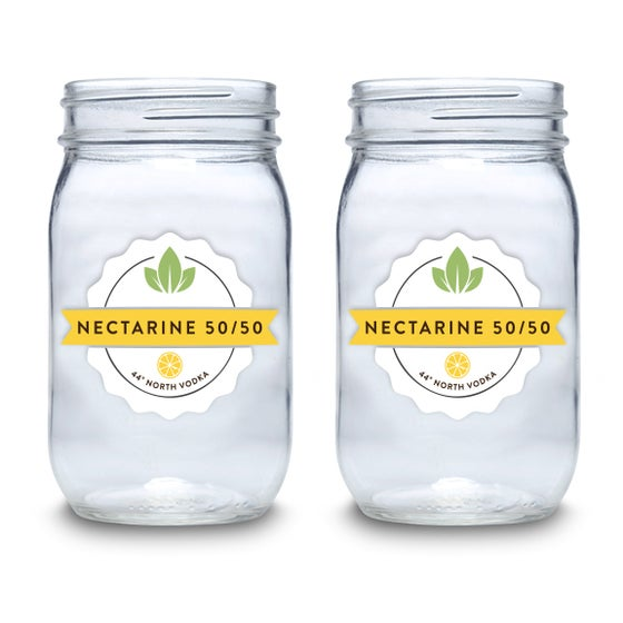 Image of Nectarine 50/50 16 oz Mason Jars - Set of 4