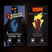 Image of Hellboy/B.P.R.D.: Right Hand of Doom and Lobster Johnson pin set! FREE U.S. SHIPPING!