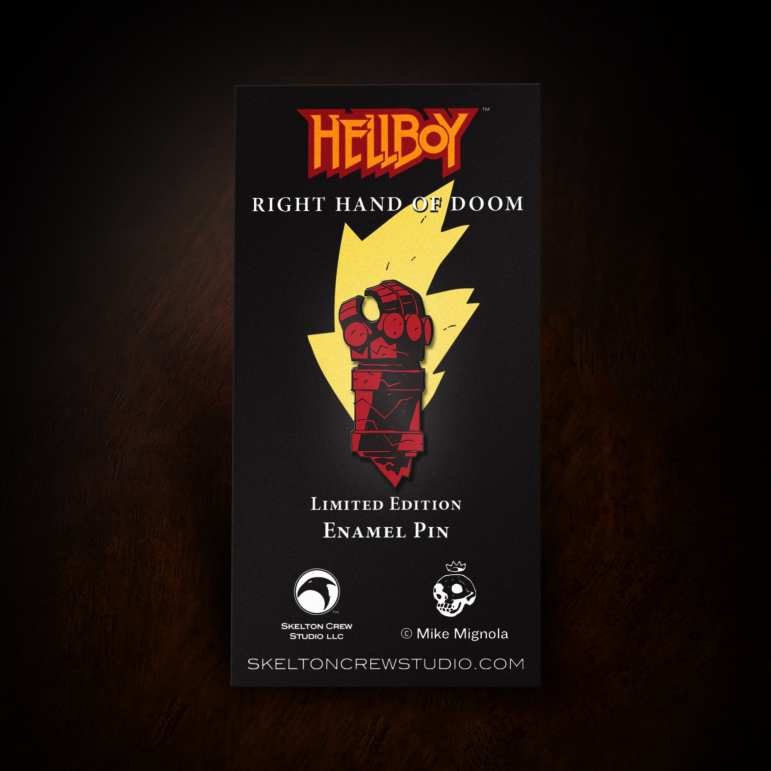 Image of Hellboy/B.P.R.D. Limited Edition Enamel Right Hand of Doom pin!