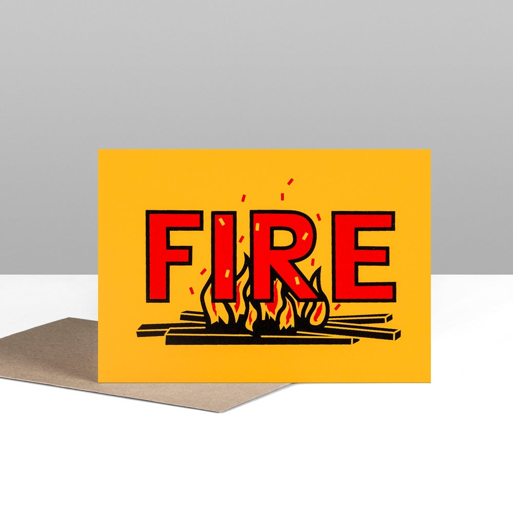 Image of FIRE greetings card