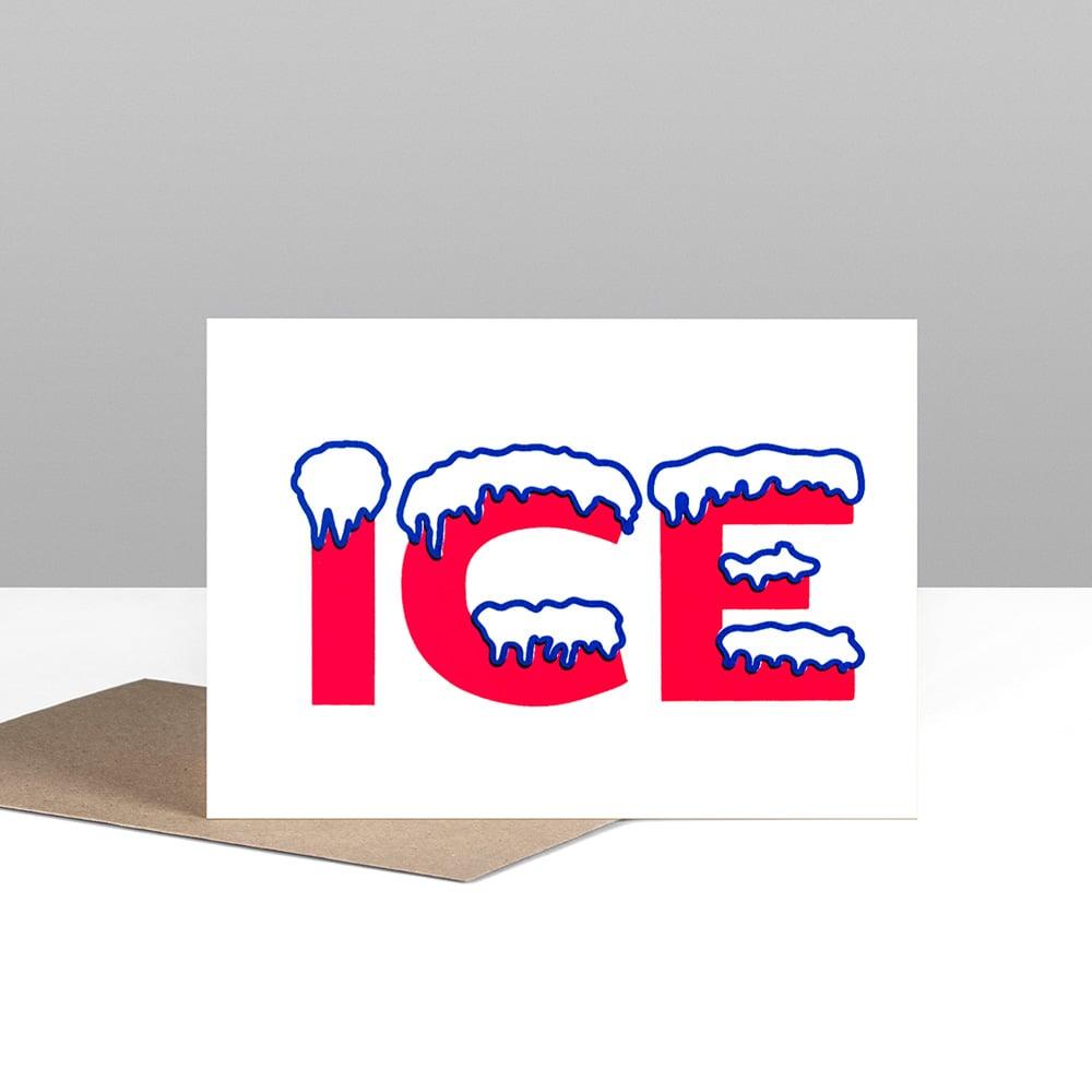 Image of ICE greetings card