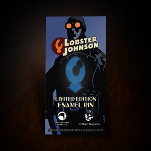 Image of Hellboy/B.P.R.D. Limited Edition Enamel Lobster Johnson pin! HAPPY HELLBOY DAY!