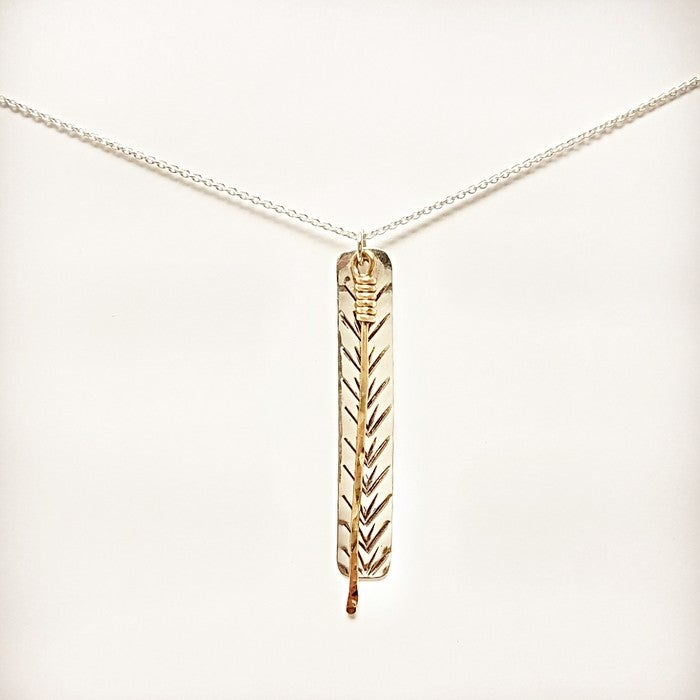 Image of Reflections of a white pine pendant ss