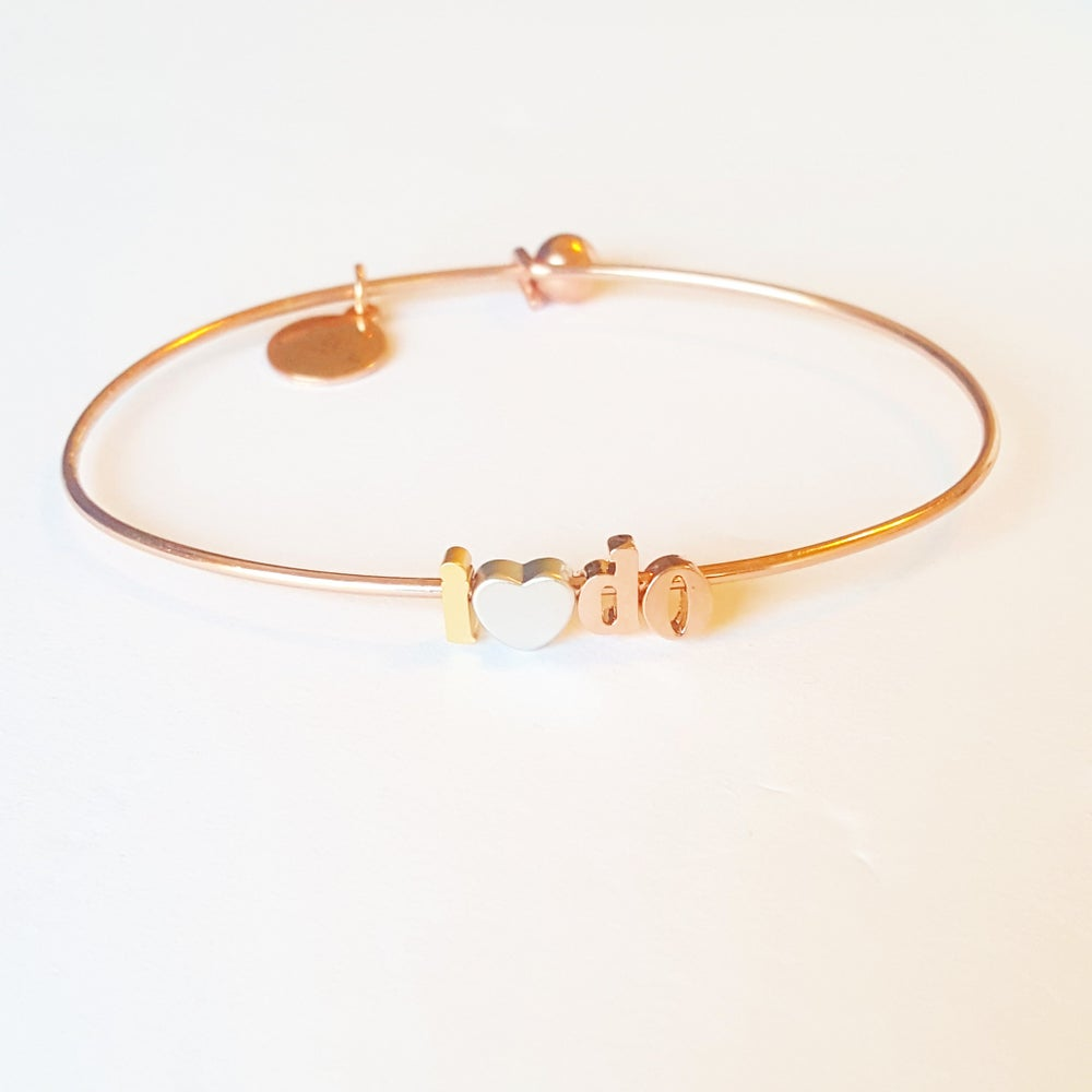 Image of I ♡ do wedding bangle or necklace
