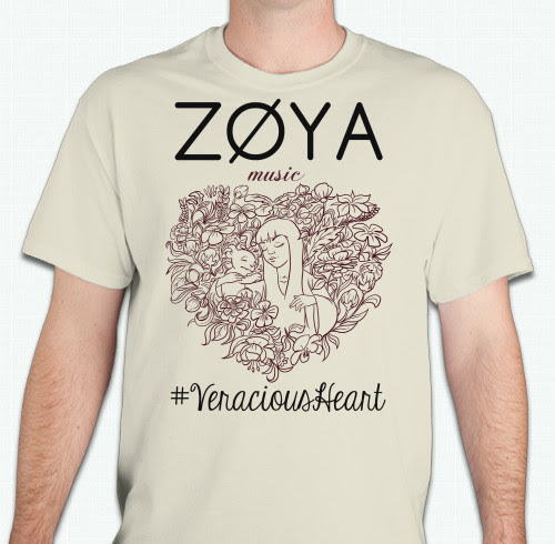Image of ZØYA 'Veracious Heart' T-shirt