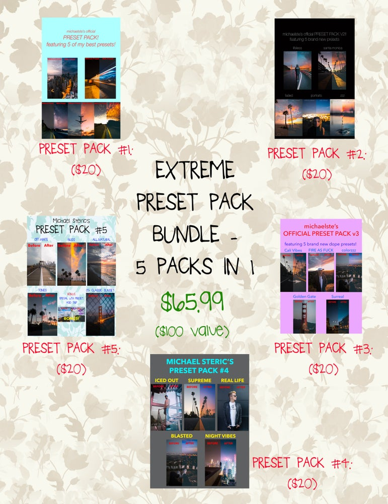 Image of ($100 VALUE) EXTREME PRESET PACK BUNDLE - 5 PACKS IN 1