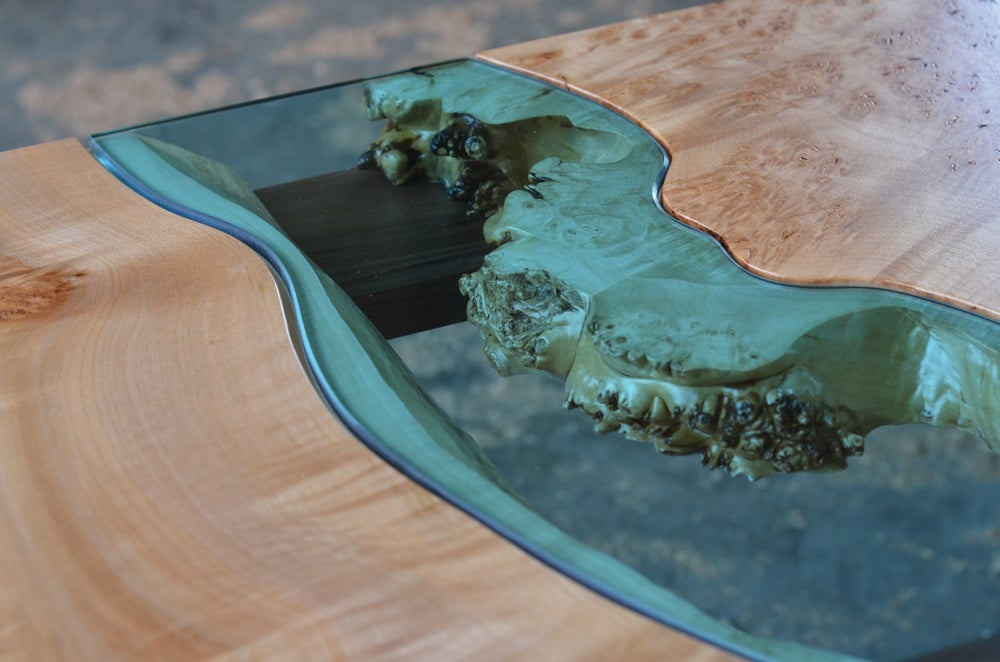 Image of maple + walnut river® coffee table