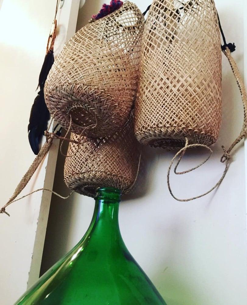 Image of Boho Borneo rattan beach bags PLAIN
