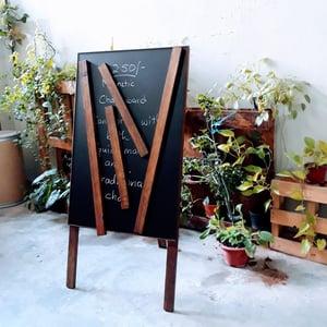 Medium Single Sided Magnetic Chalkboard cum Poster Display Board (90cm X 60cm)