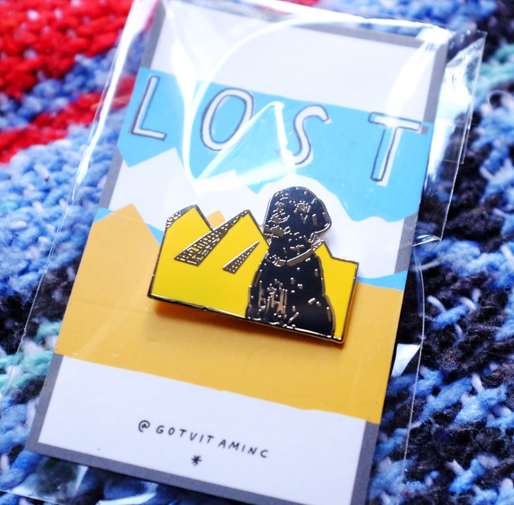 Image of 'Lost Dog' Enamel Pin