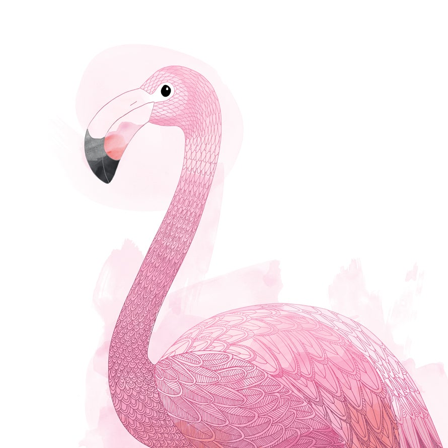 Image of Print: Flamingo