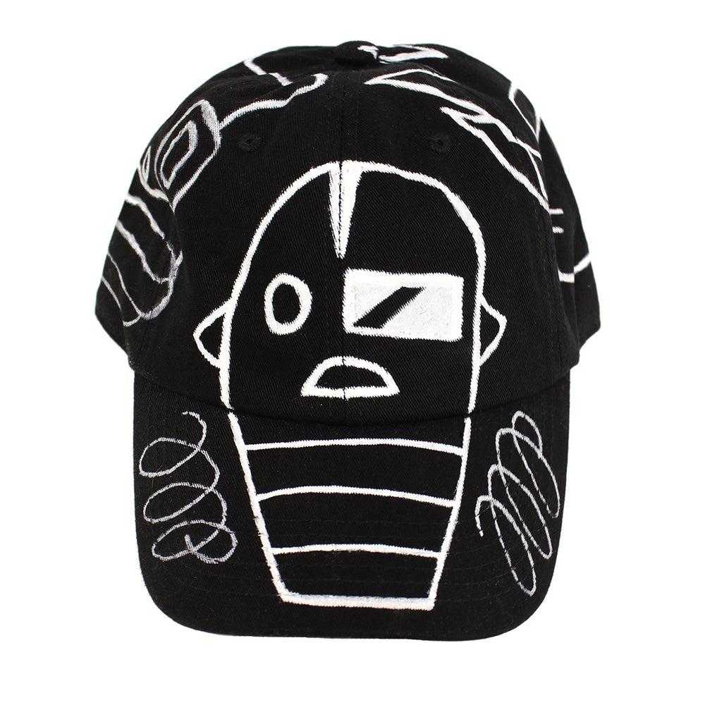 Image of Black FFP Hand Drawn Hat 02