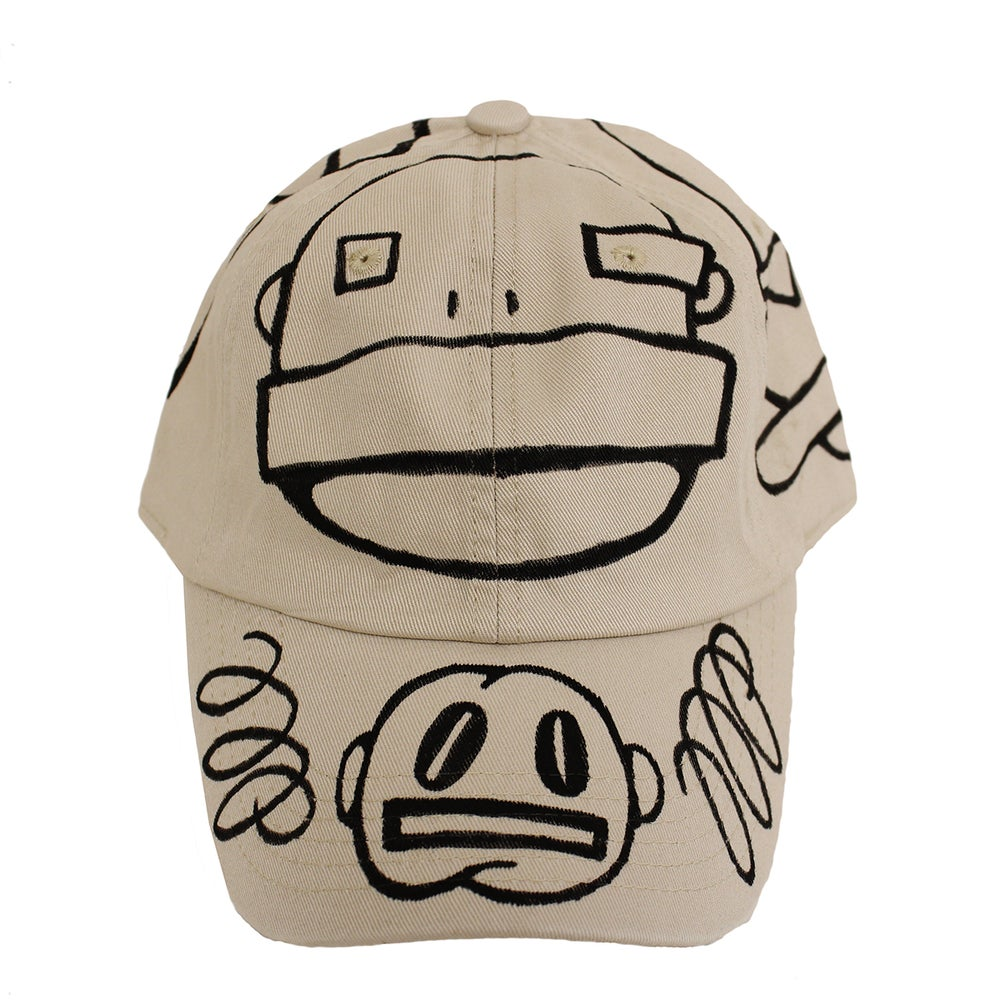 Image of Beige FFP Hand Drawn Hat 01