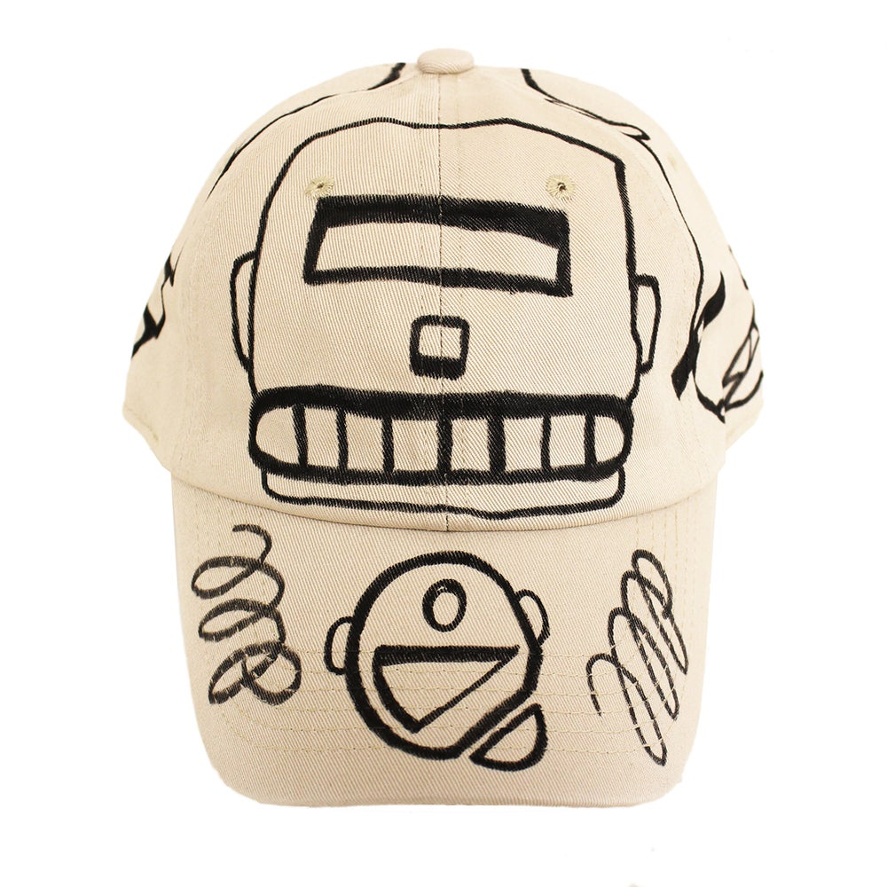 Image of Beige FFP Hand Drawn Hat 02