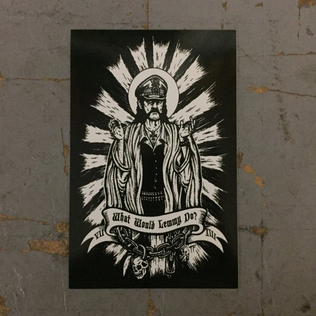 Image of What would Lemmy Do Sticker WWLD