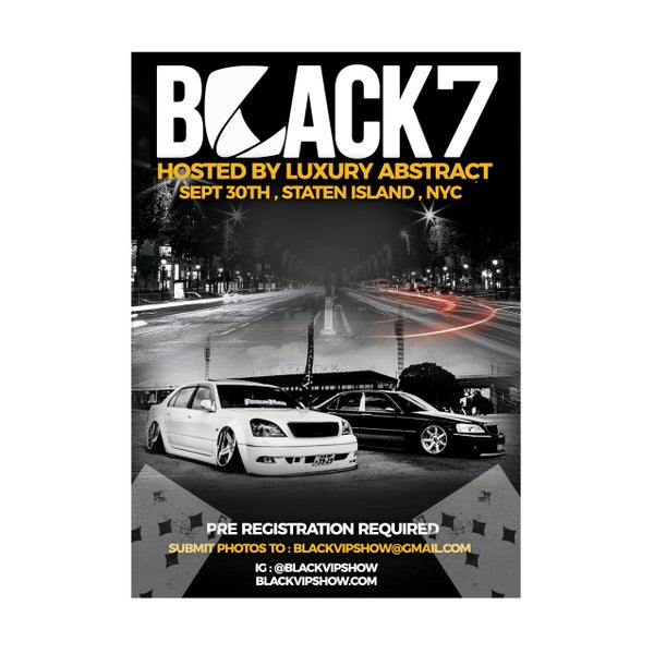 Image of Black 7 , Vehicle Registration, Sept 30th NYC