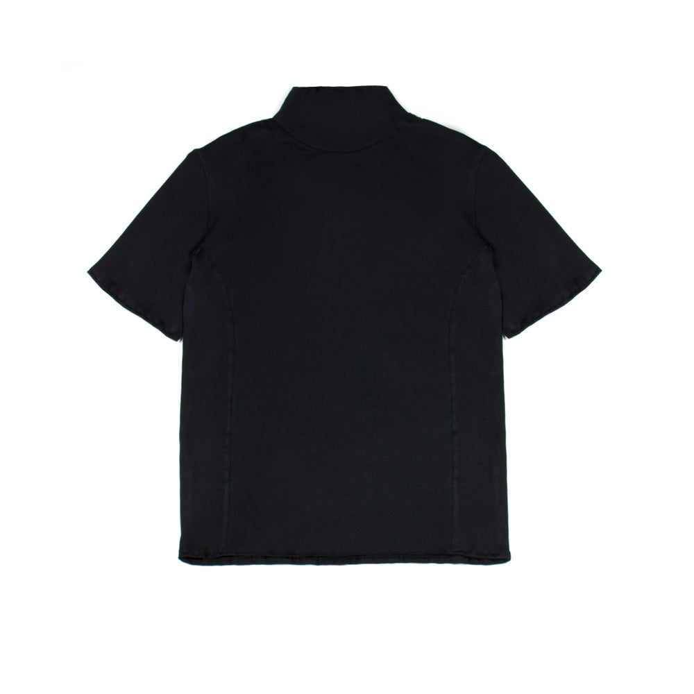 Image of High Neck Tee Black