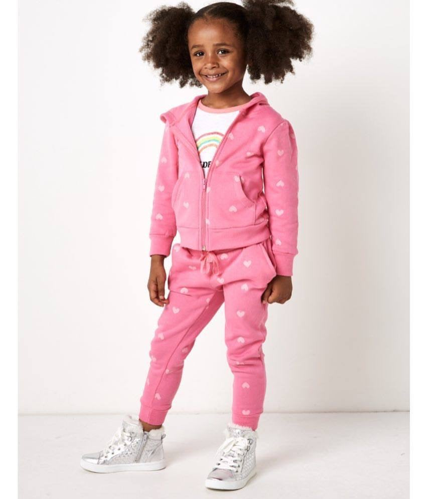 Image of Girls heart tracksuit