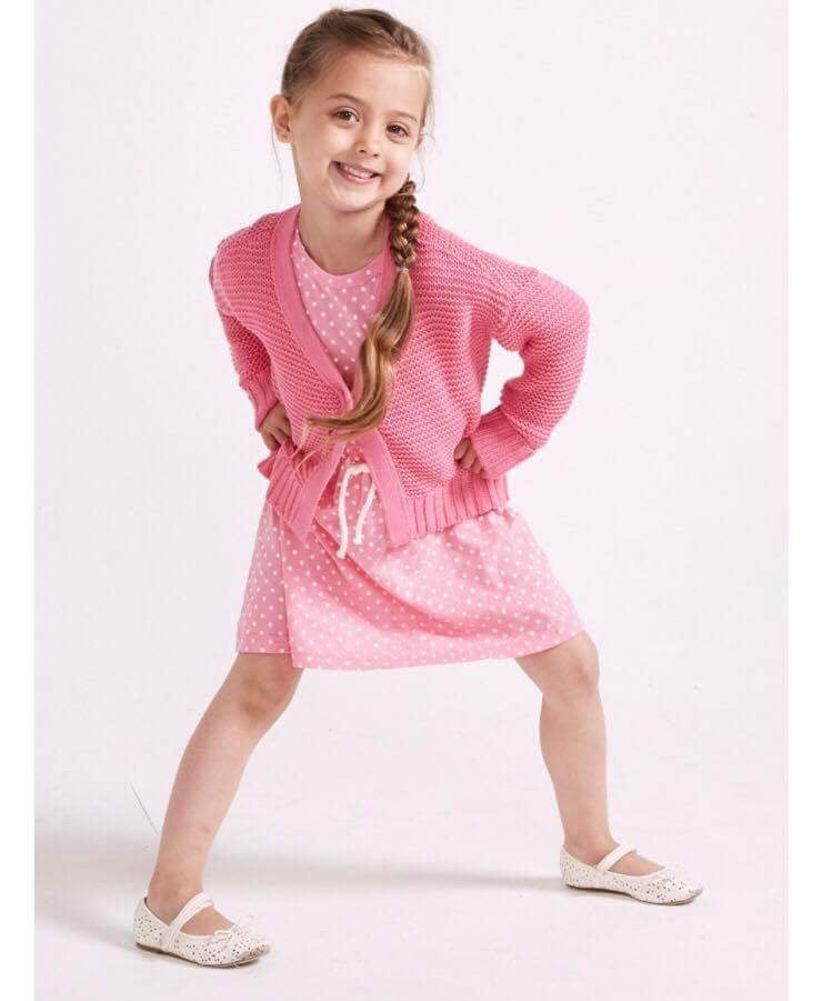 Image of Girls pink cardigan