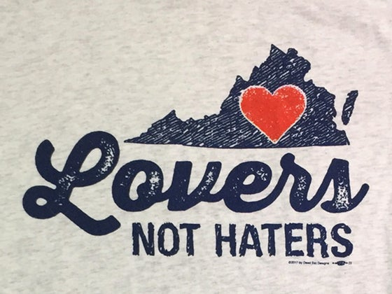 Image of Virginia Lovers not Haters mens and ladies heather grey tee