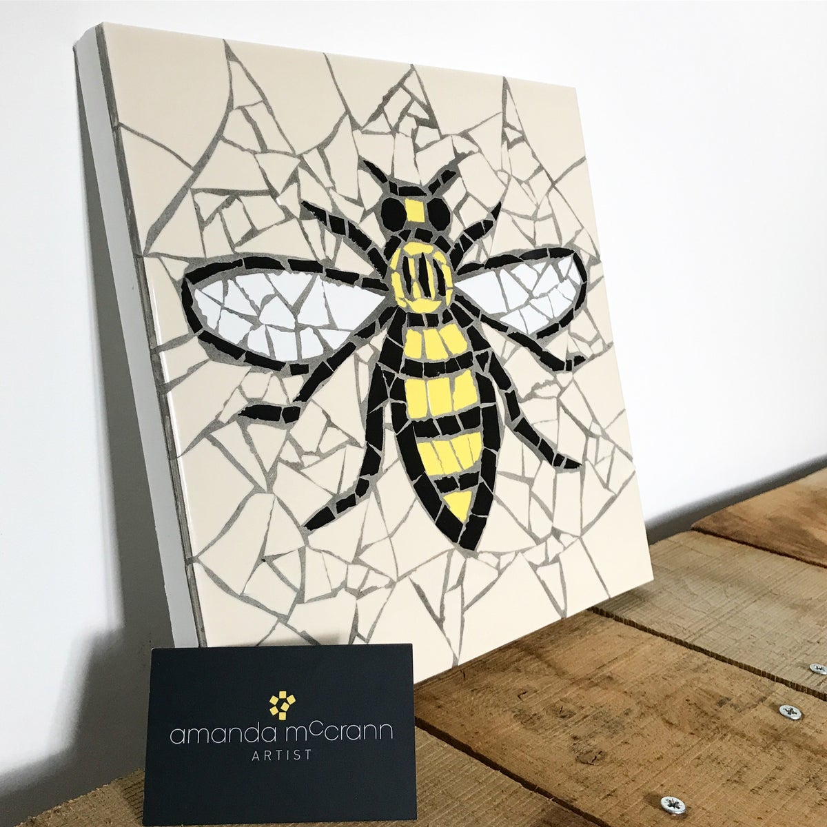Image of Manchester Worker Bee Mosaic by Amanda McCrann