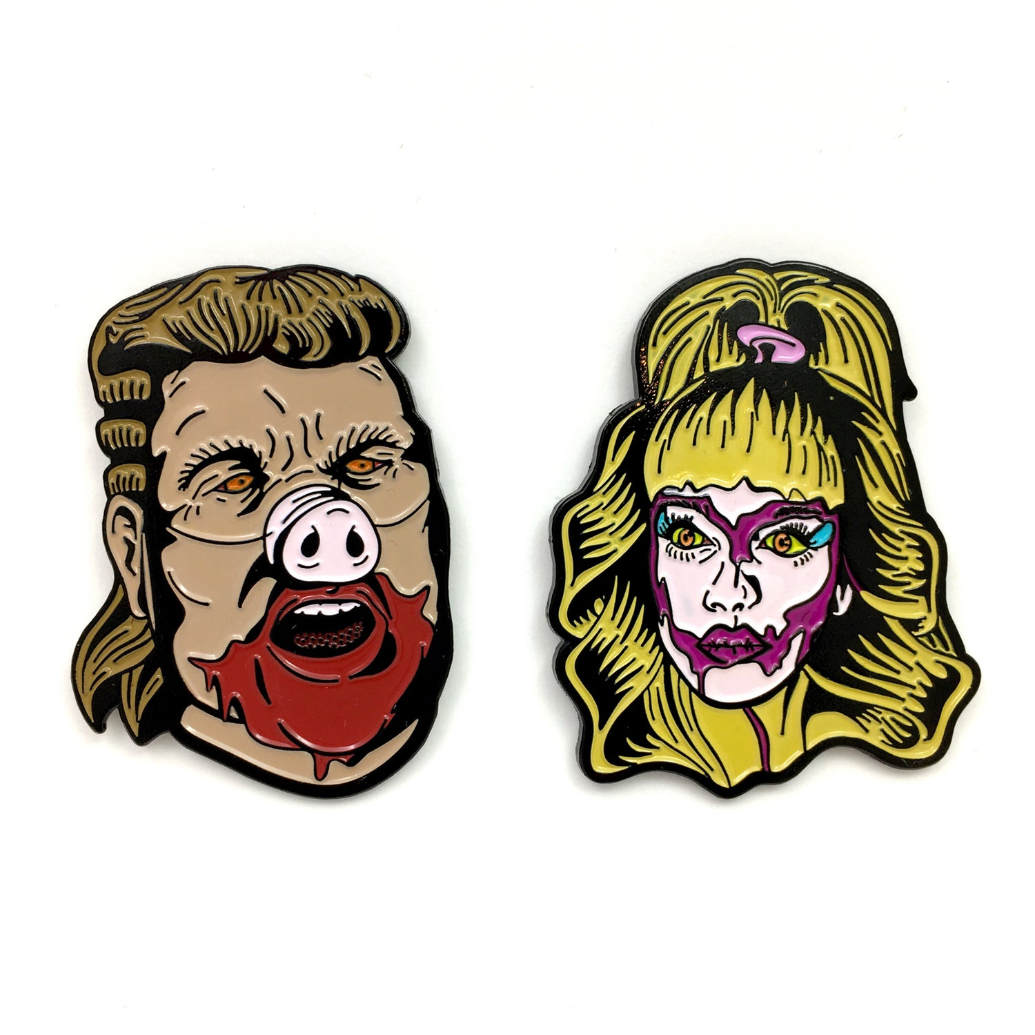 Image of Hull House Demons (two pin set)