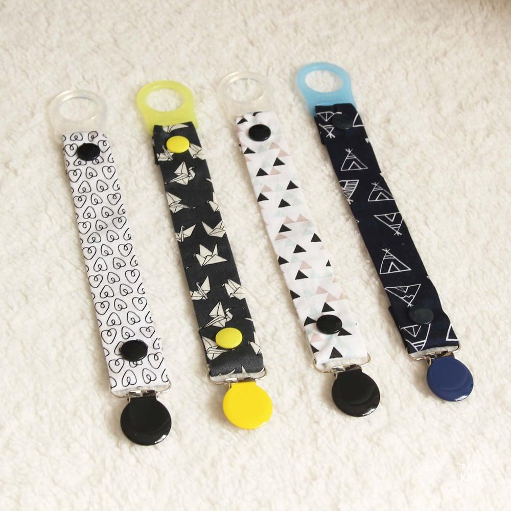 Image of ♡ Attaches tétine ou doudou, coloris au choix ♡
