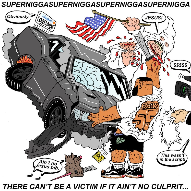 "Image of ""SUPER NIGGA"" PRINT"