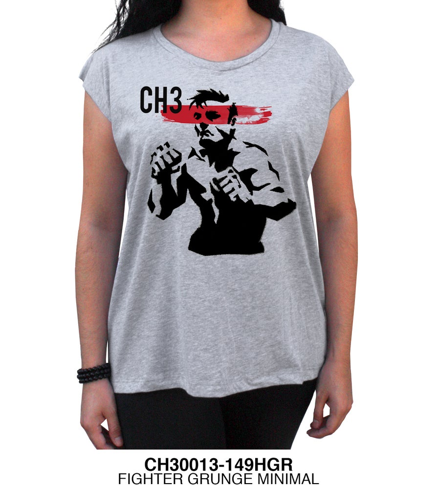 Image of CH3 Ladies Fighter Tee Gray