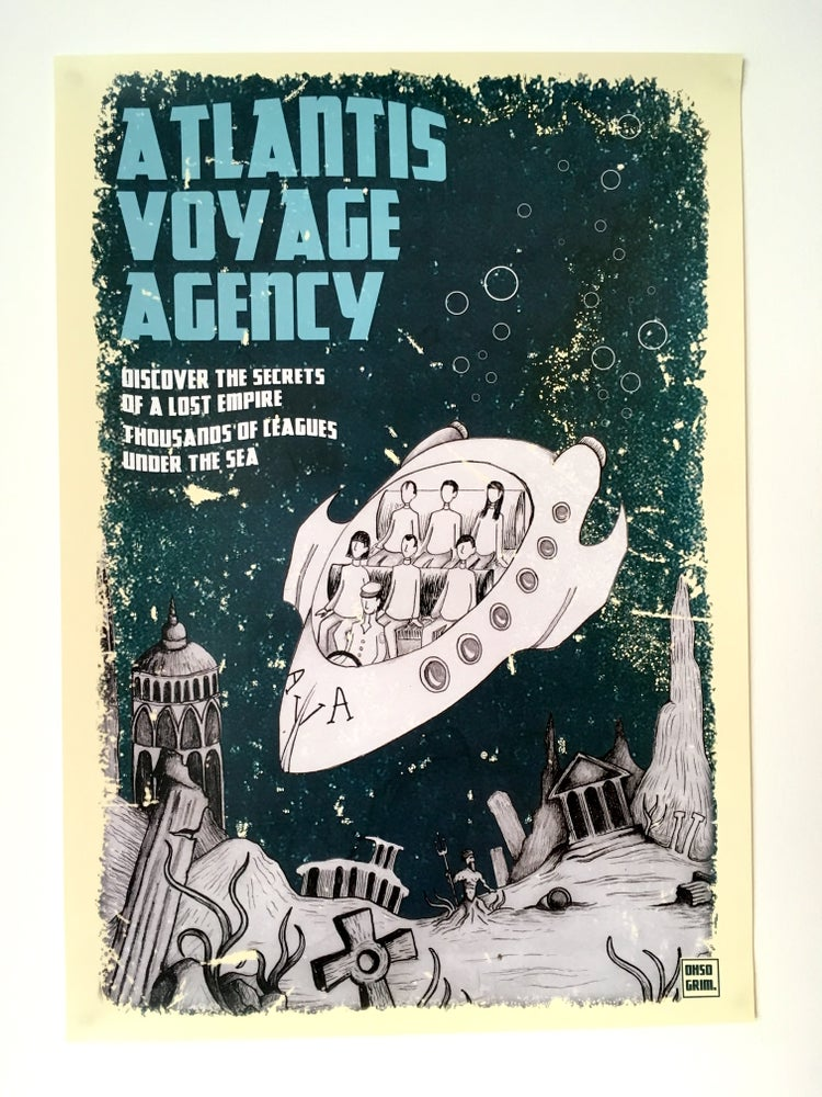 Image of Atlantis Voyage Agency A3 Poster