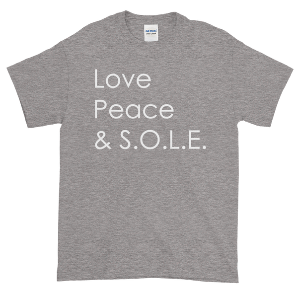 Image of Love Peace & S.O.L.E. Unisex Tee Sport Grey