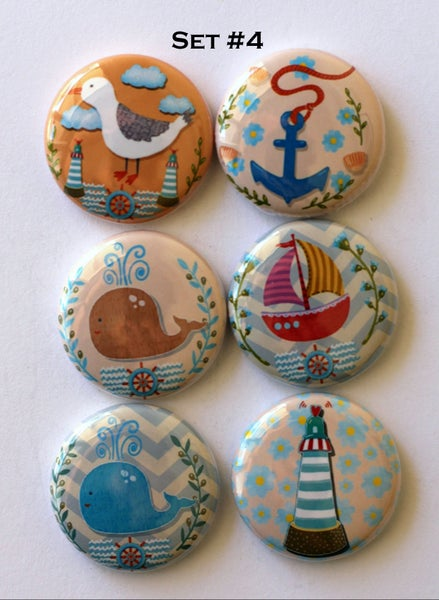 Image of Nautical Themed  Flair sets 1 -5