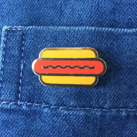 Image of Hotdog Enamel Pin