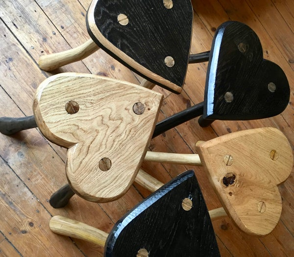 Image of Handcrafted Heart Stool