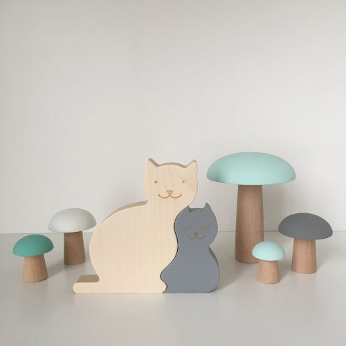 Image of Puzzle Chat gris