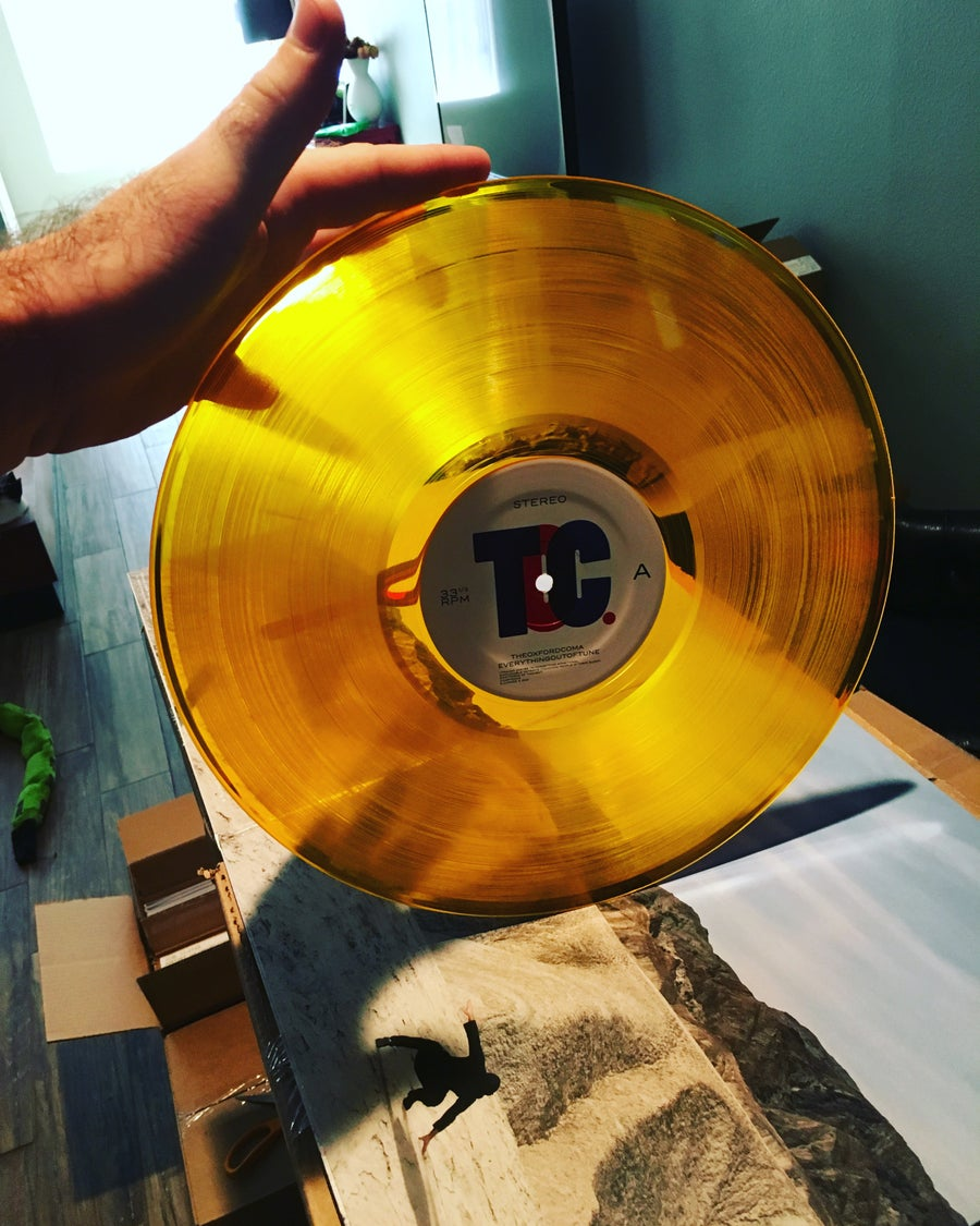 "Image of Everything Out of Tune 12"" LP Amber Edition"