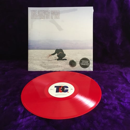 """Image of Everything Out of Tune 12"""" LP Trans Red"""