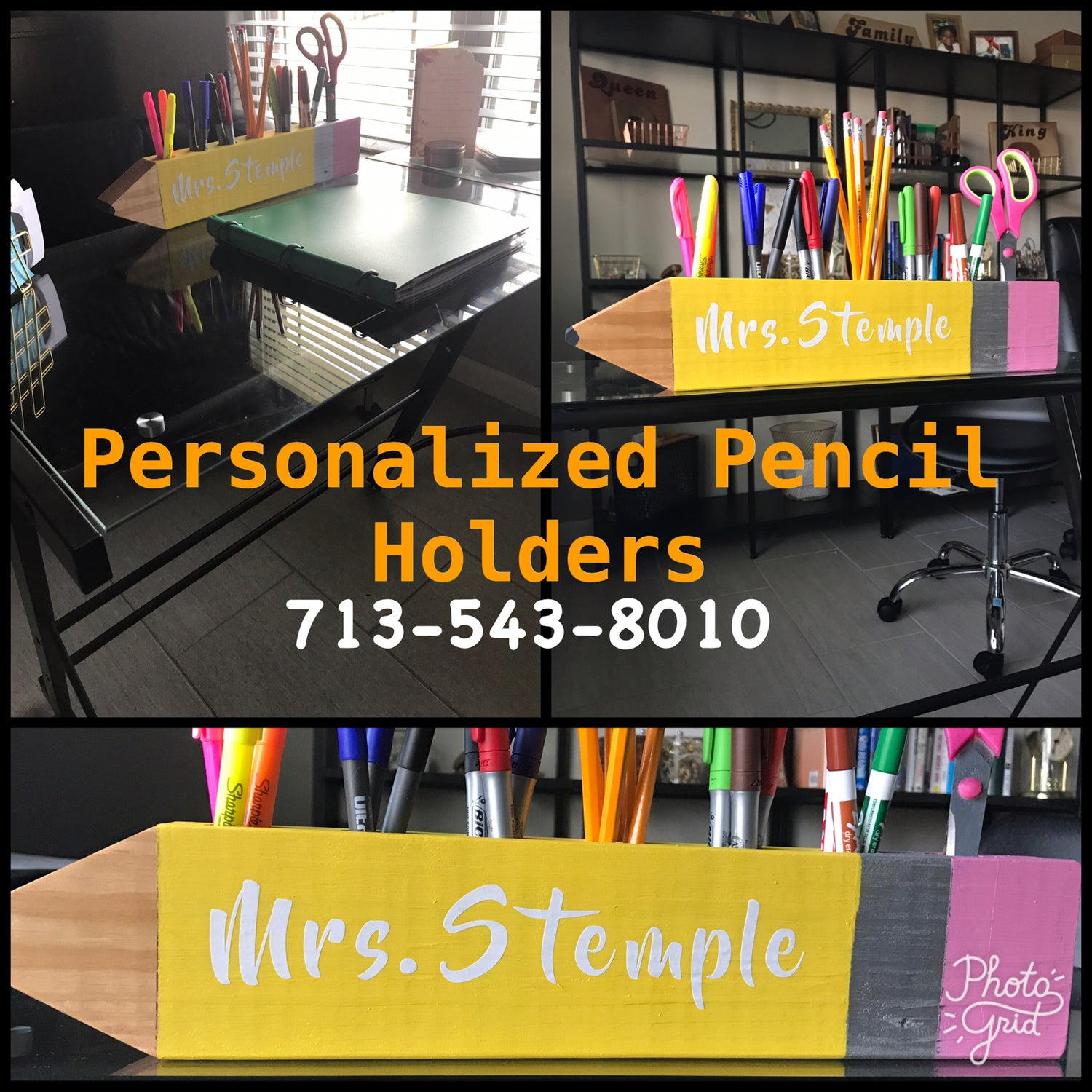 Image of Personalized Pencil Holders