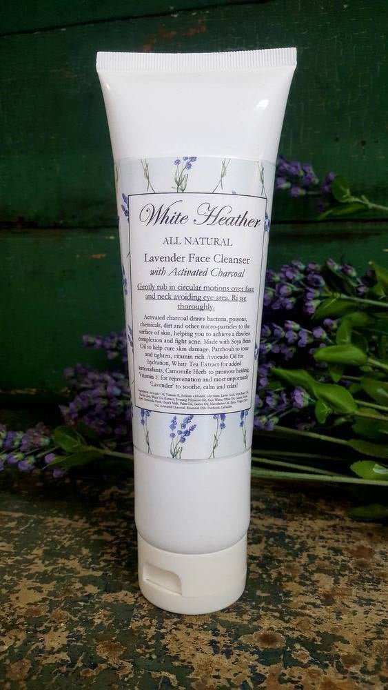 Image of Lavender Face Cleanser with Activated Charcoal